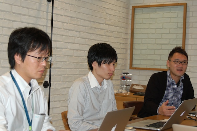 Sugihara (left), Tamura (middle) and Goto (right) from cloudpack (iret).