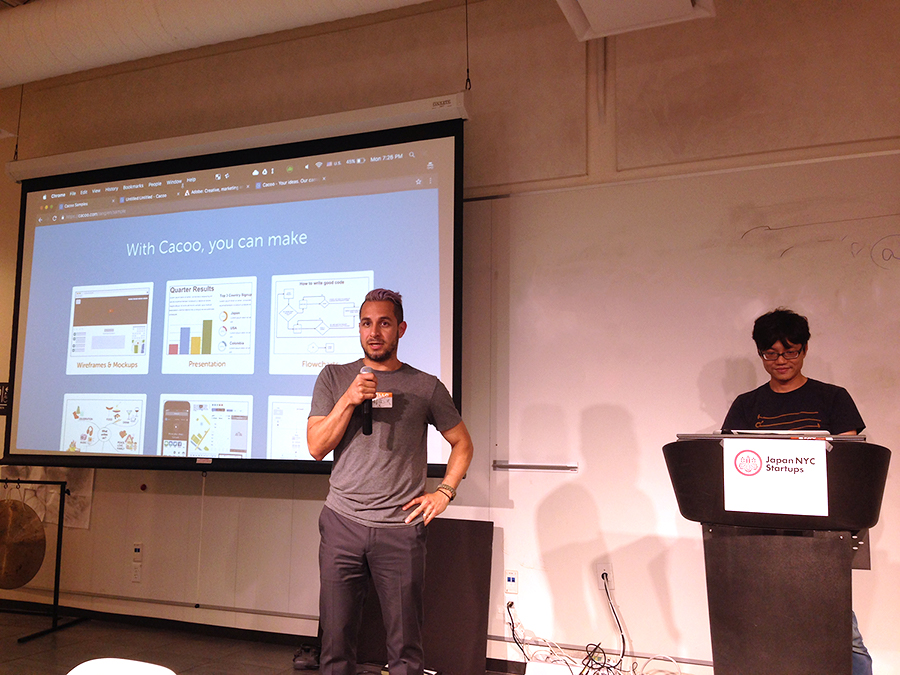 Nulab demos Cacoo's Adobe integration at Japan NYC Startups event
