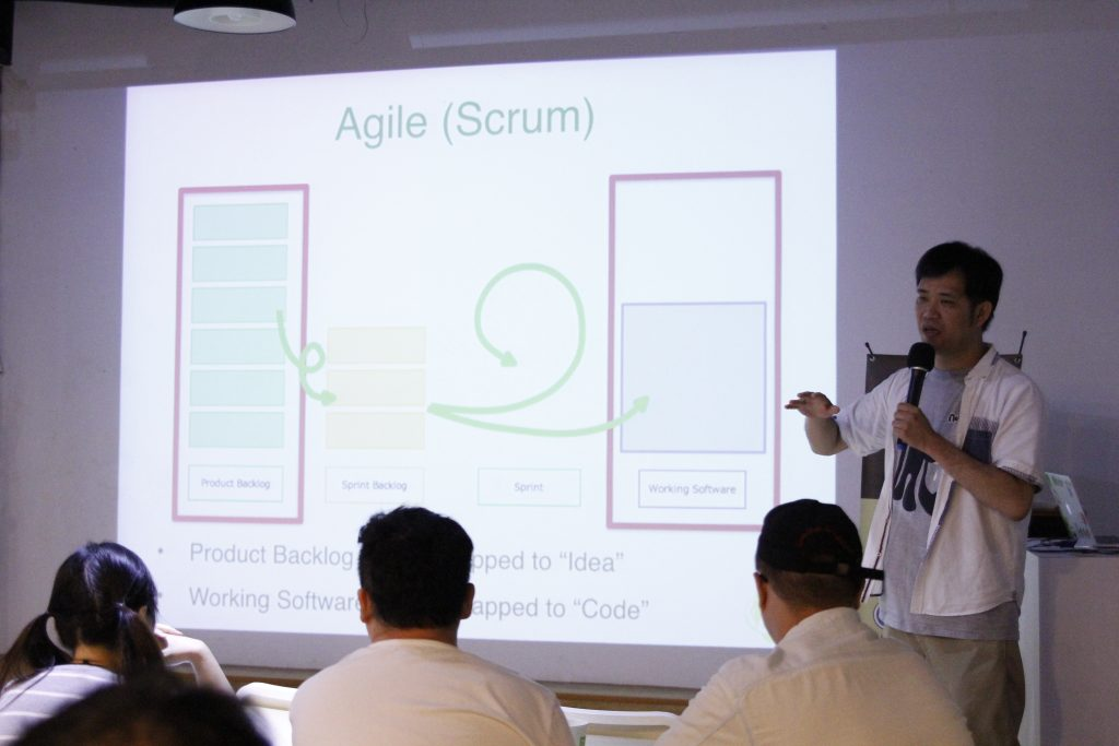 Nulab's CEO Masanori Hashimoto explains how their Backlog development team uses Agile mythology