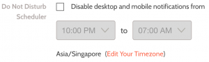 To disable the feature, just uncheck the box and save again.