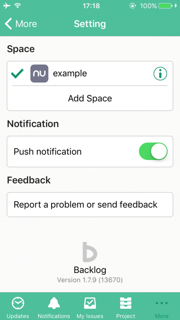 Push Notification Setting