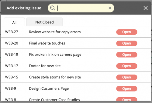 Search for existing issue