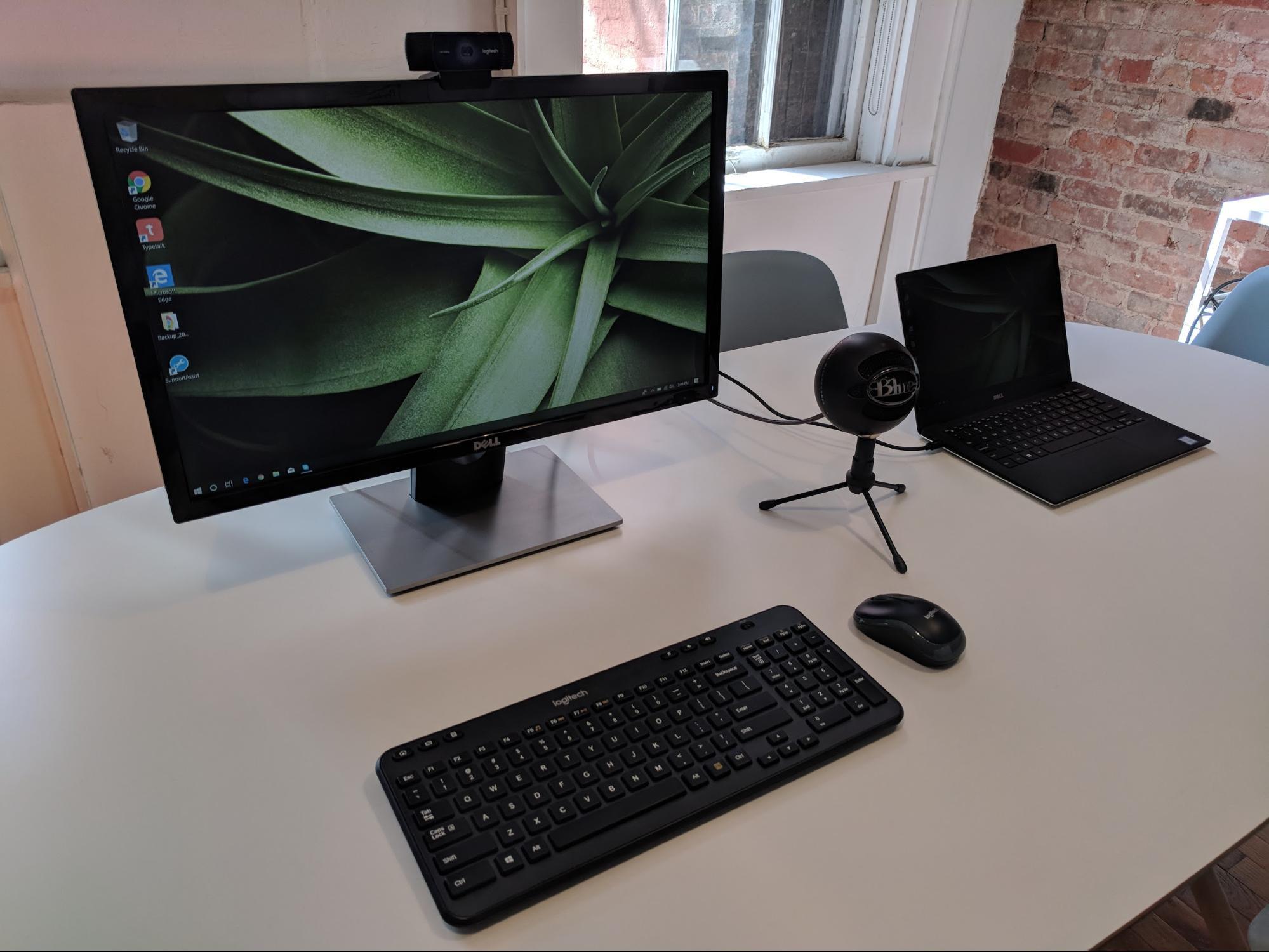 A usability testing station