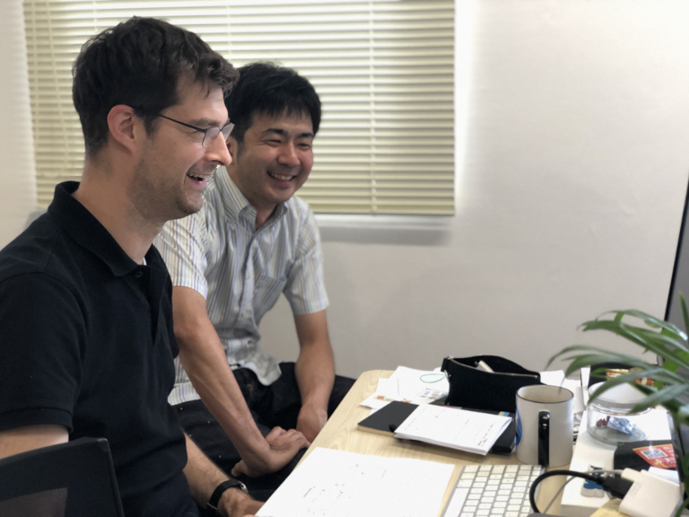 Photo of Hacarus team: Marcel Takagi, VP of Product, and Takashi Someda, CTO.