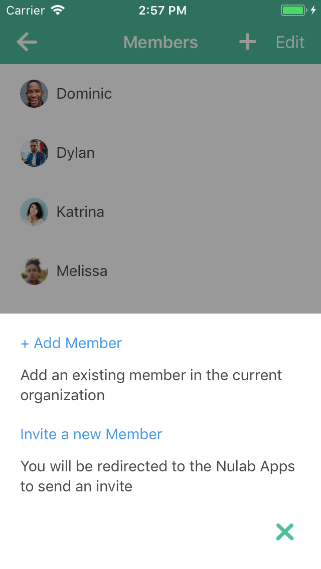 Inviting new members on Backlog for iOS