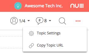 Typetalk Topic Settings