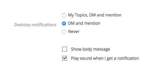 Typetalk desktop notifications