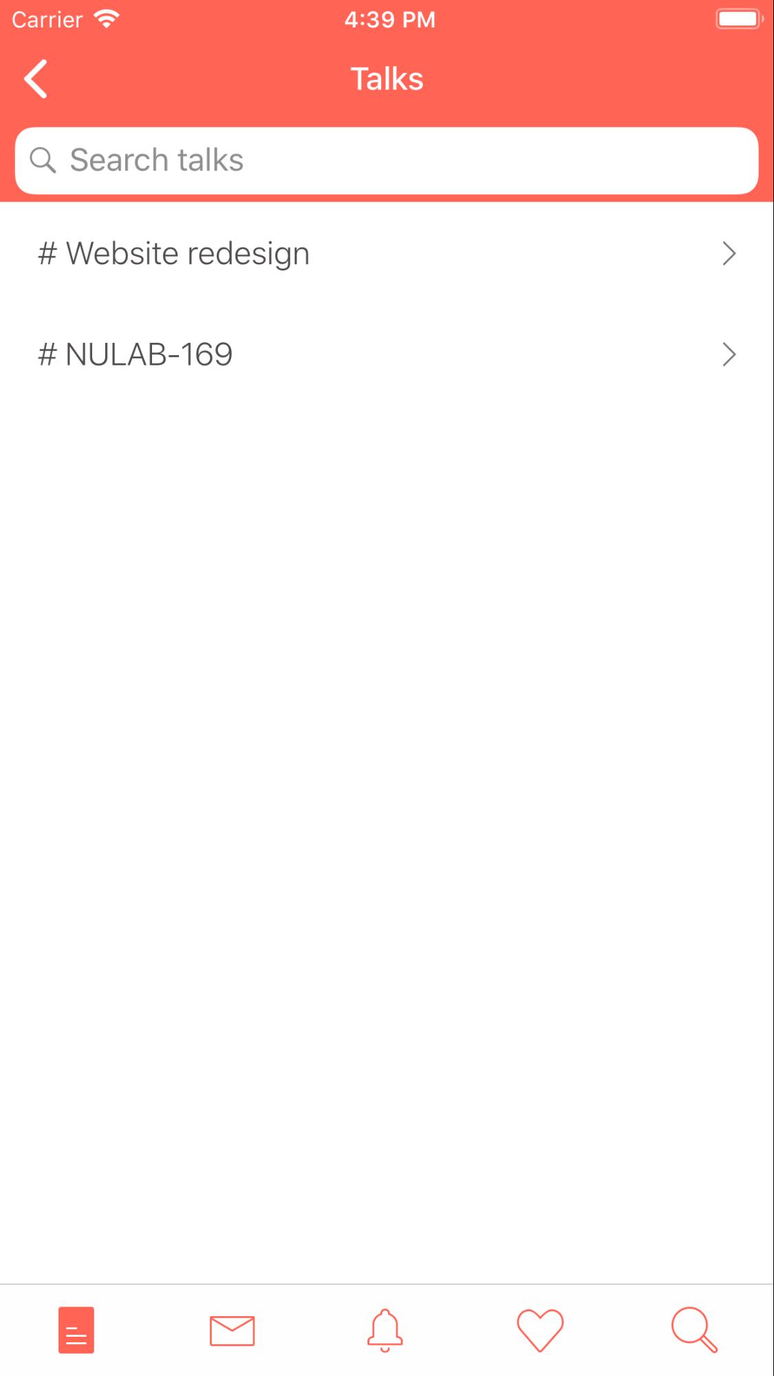 Search talks on Typetalk for iOS