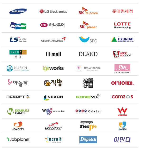 Megazone's clients include many major companies such as SAMSUNG, LG Electronics, and LOTTE.