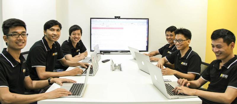 HBLab programmers in meeting room