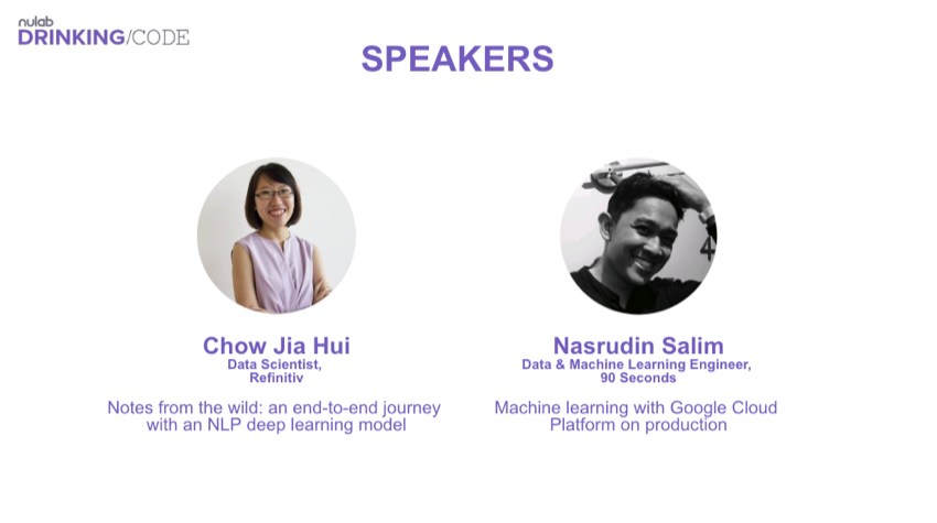 Nulab Drinking Code June 2019 speakers