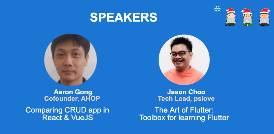 Nulab Drinking Code Dec 2019 Speakers: Aaron Gong and Jason Choo