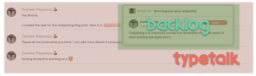 3 - Clickjacking - Embedded Backlog issue example 2