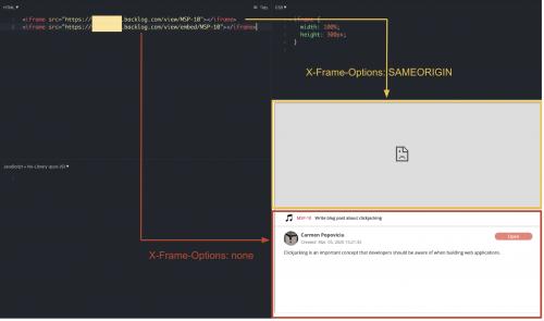 4 - Clickjacking - X-Frames-Options