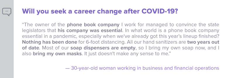 Q3 - Will you seek a career change after COVID-19 - Nulab blog