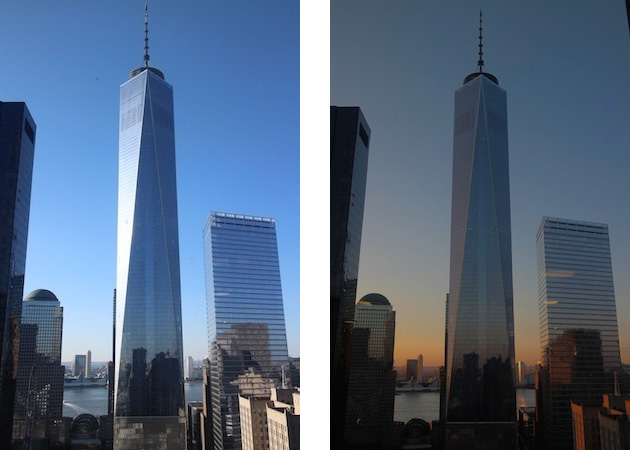 One World Trade Centerの昼の顔と夜の顔