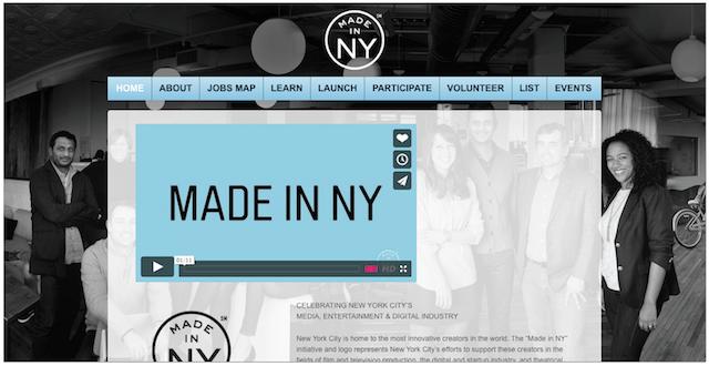 ニューヨーク市による文化振興とマーケティングキャンペーン「MADE IN NY」