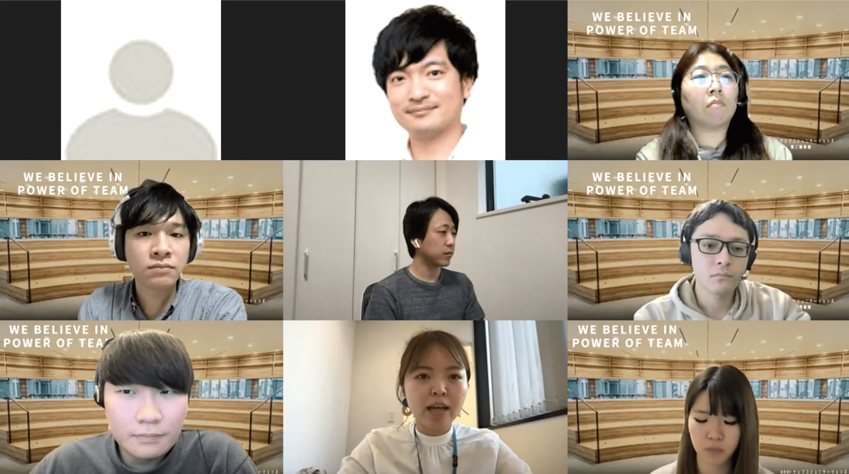 左端・右端:KDDIウェブコミュニケーションズ 第二開発部 チームメンバー